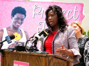 La sénatrice anti-IVG Katrina Jackson