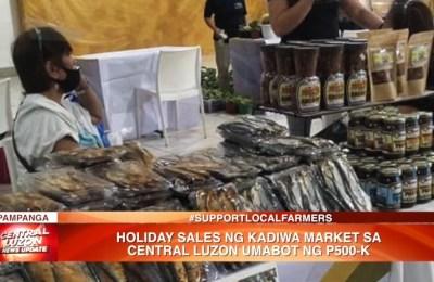 Holiday sales ng Kadiwa Market sa Central Luzon, umabot ng ₱500K | News
