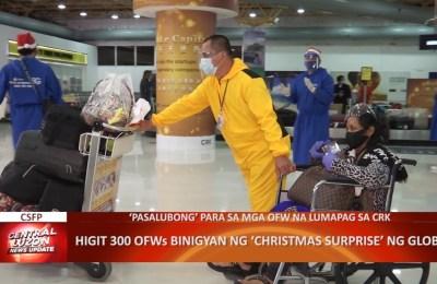 Higit 300 OFWs binigyan ng Christmas surprise ng Globe   CLTV36 News