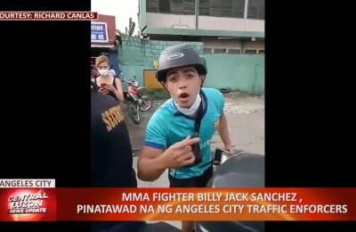 MMA Fighter Billy Jack Sachez, pinatawad na ng Angeles City traffic enforcers