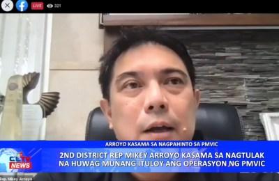 2nd District Rep. Mikey Arroyo kasama sa nagtulak na huwag munang ituloy ang operasyon ng PMVIC