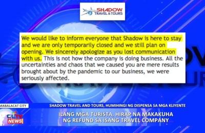 Ilang mga turista, hirap na makakuha ng refund sa isang travel company   PAMPANGA News