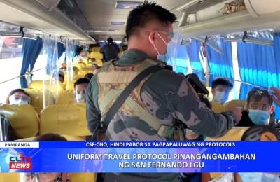 Uniform travel protocol pinangangambahan ng San Fernando LGU | PAMPANGA News