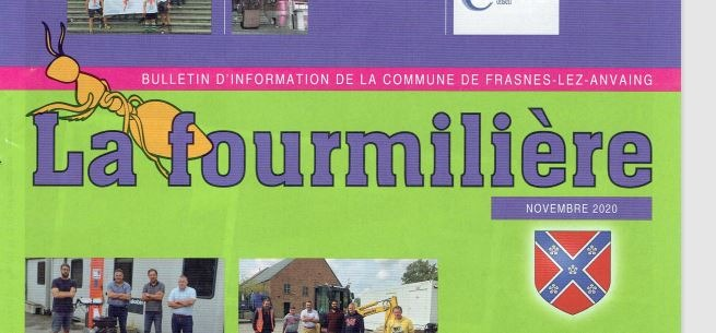 La Fourmilière :ce jeudi 19 novembre 2020