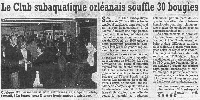 La République du Centre – 1999
