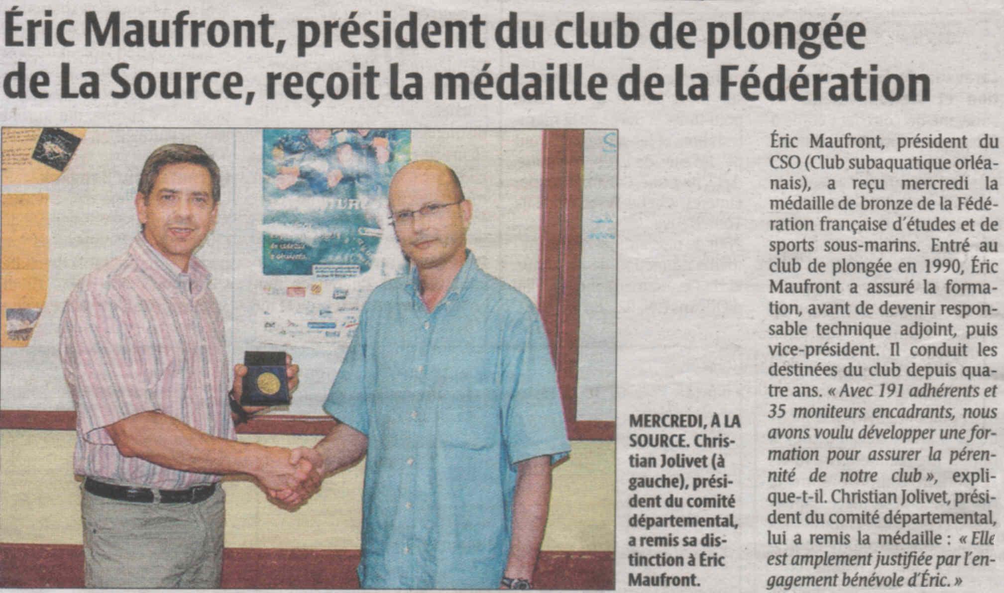 La République du Centre – juin 2008