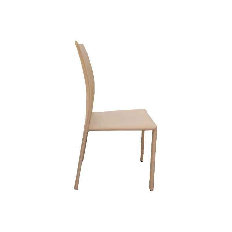 chaise beige en cuir ecologique h 90 cm liel