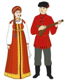 Народный костюм русского народа рисунок поэтапно – Как ...
