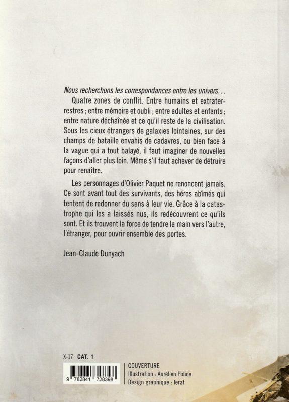 Olivier Paquet - Faux-semblance - Edition L'Atalante - 4e couverture