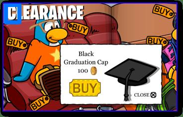 Club Penguin Black Graduation Cap