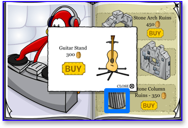 club-penguin-cheats-guitar-stand