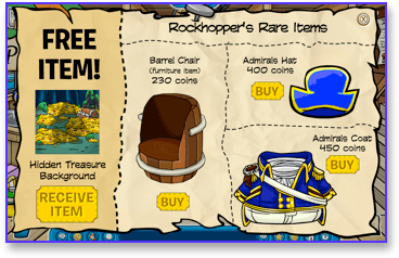 Rockhopper's rare items for March 2010