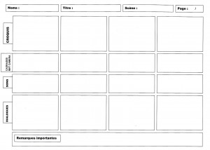 2 story board vierge