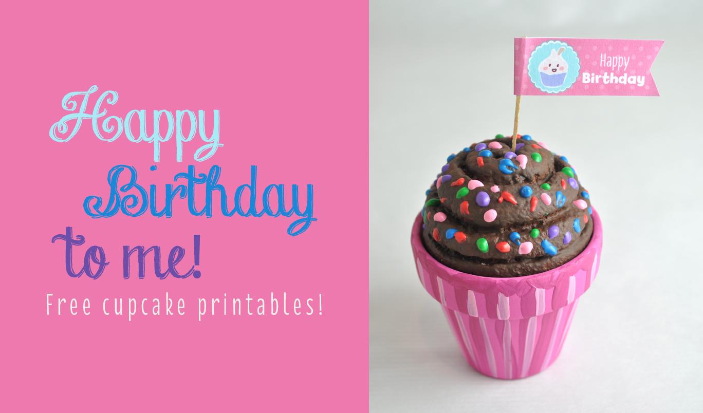 Free Happy Birthday Cupcake Topper Printable Club Chica Circle