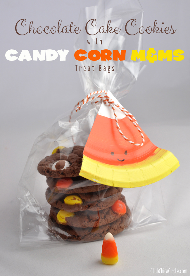 Using the long yarn tail from the beginning and the tapestry needle, sew the bottom of the bag shut. Candy Corn M M Chocolate Cake Cookie Treat Bags