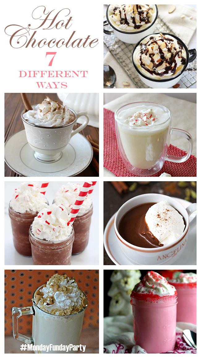 Hot Chocolate recipe ideas #mondayfundayparty