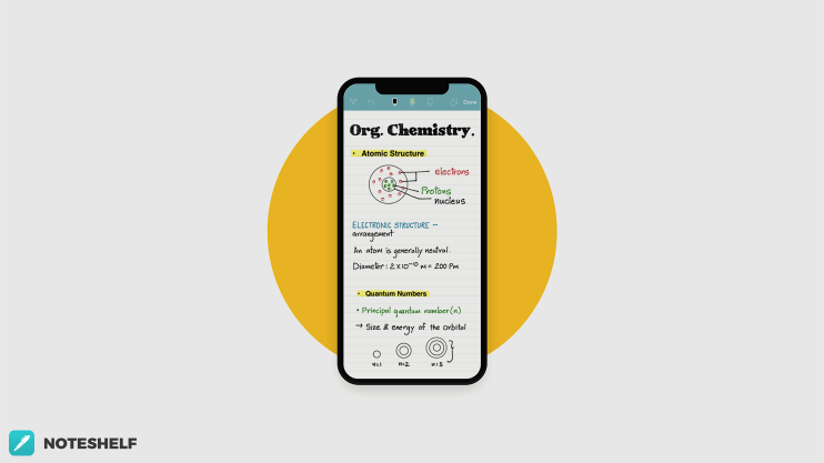 Great on iPhone X in Noteshelf 2