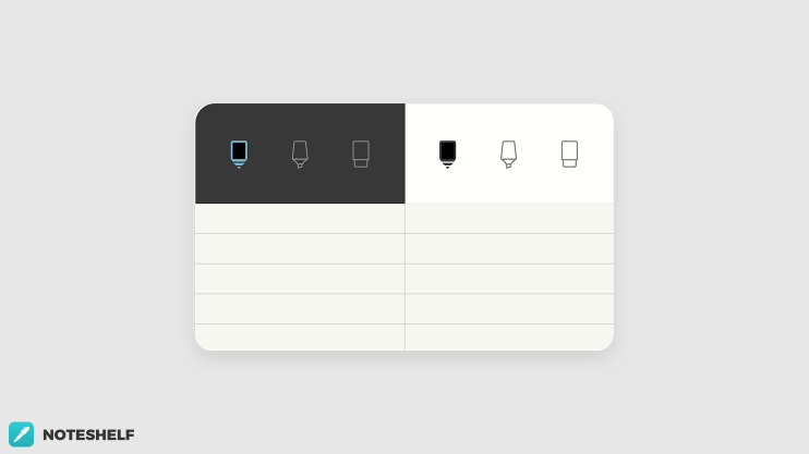 New Minimal Themes in Noteshelf 2