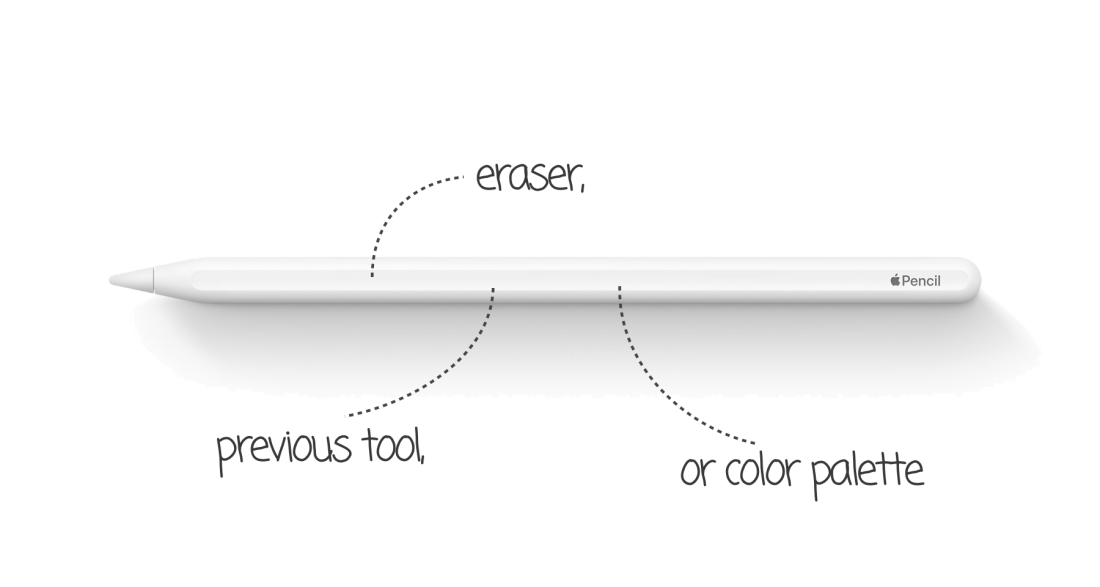 Apple pencil double tap