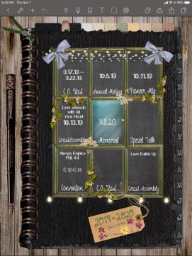 Kaite's, Digital Planner custom page.