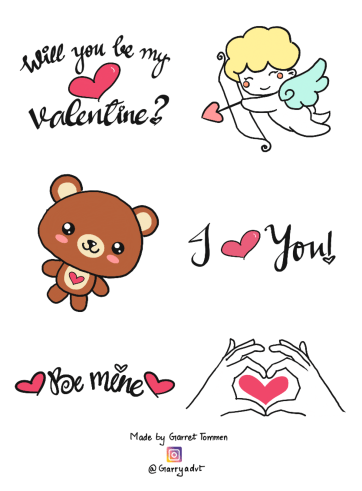 Valentine's Day Stickers P1