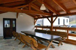 Беседка в мини-гостинице Вершина в Гуамке