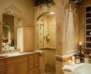 bathtub candles shower light