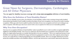 Disability income insurance for dentists  doctors and pros p3
