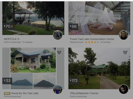 airbnd rental rates at tagaytay