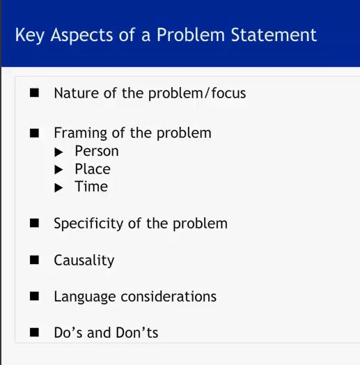 define problem 1