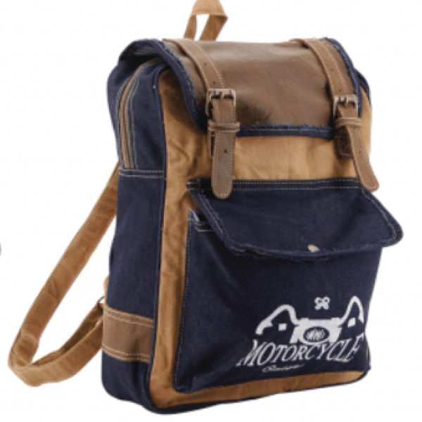 Sac à dos Bleu pour Homme - Backpack for men - Amilcar Selections