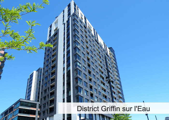 District Griffin sur l'Eau - ÎLOT 10 Condos Appartements
