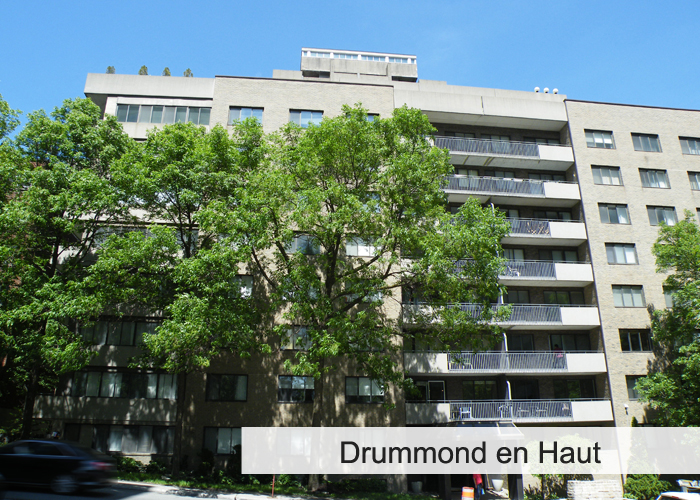 Drummond en Haut Condos Appartements
