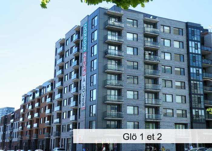 GLO 1 et 2 Condos Appartements