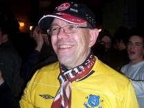Clubfan mit Everton-Trikot