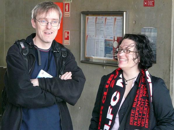 Willi und Sandra freuen sich