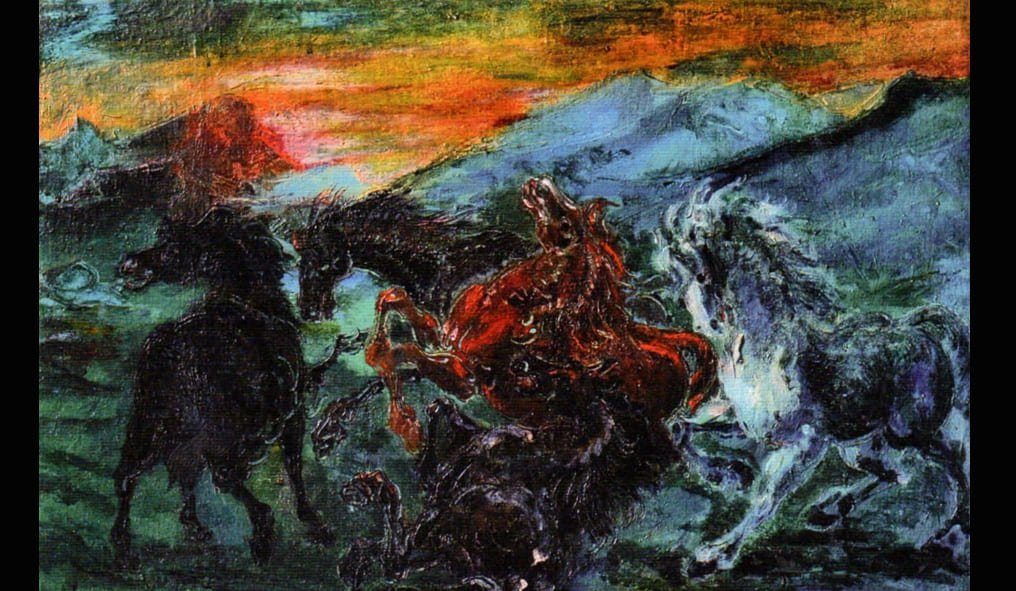 Aligi Sassu I cinque Cavalli
