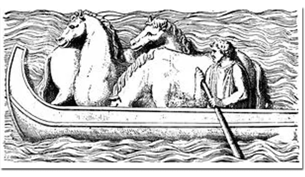 Travel with horses in boat