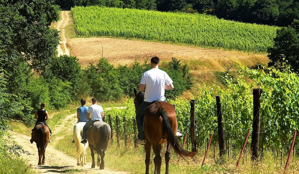 On Horseback in Tuscany