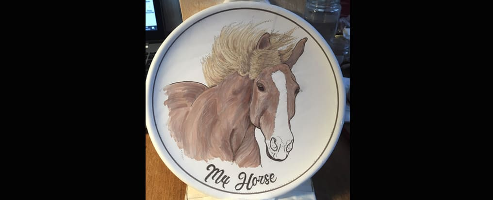Your horse painted on a plate 2