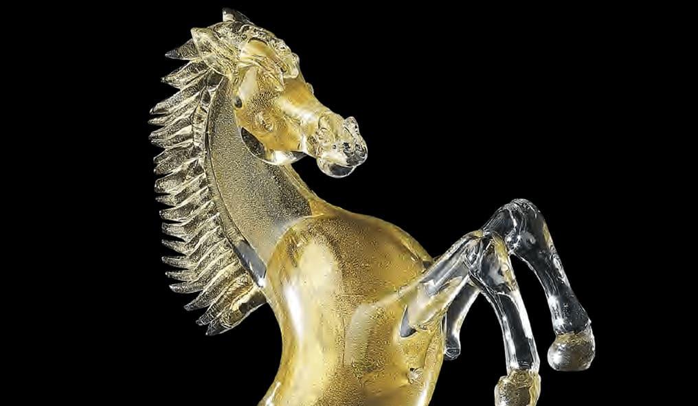 Cavalli in vetro di Murano