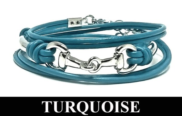 Snaffle and Spiral 308 Bracelet Turquoise