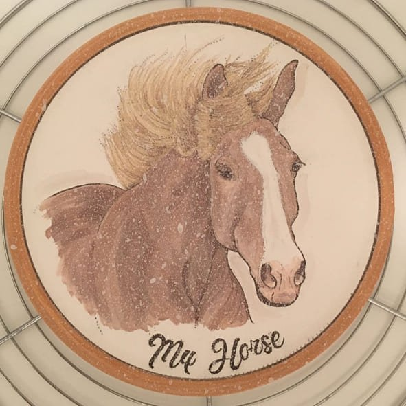 Your Horse Painted on a Plate Crystallization