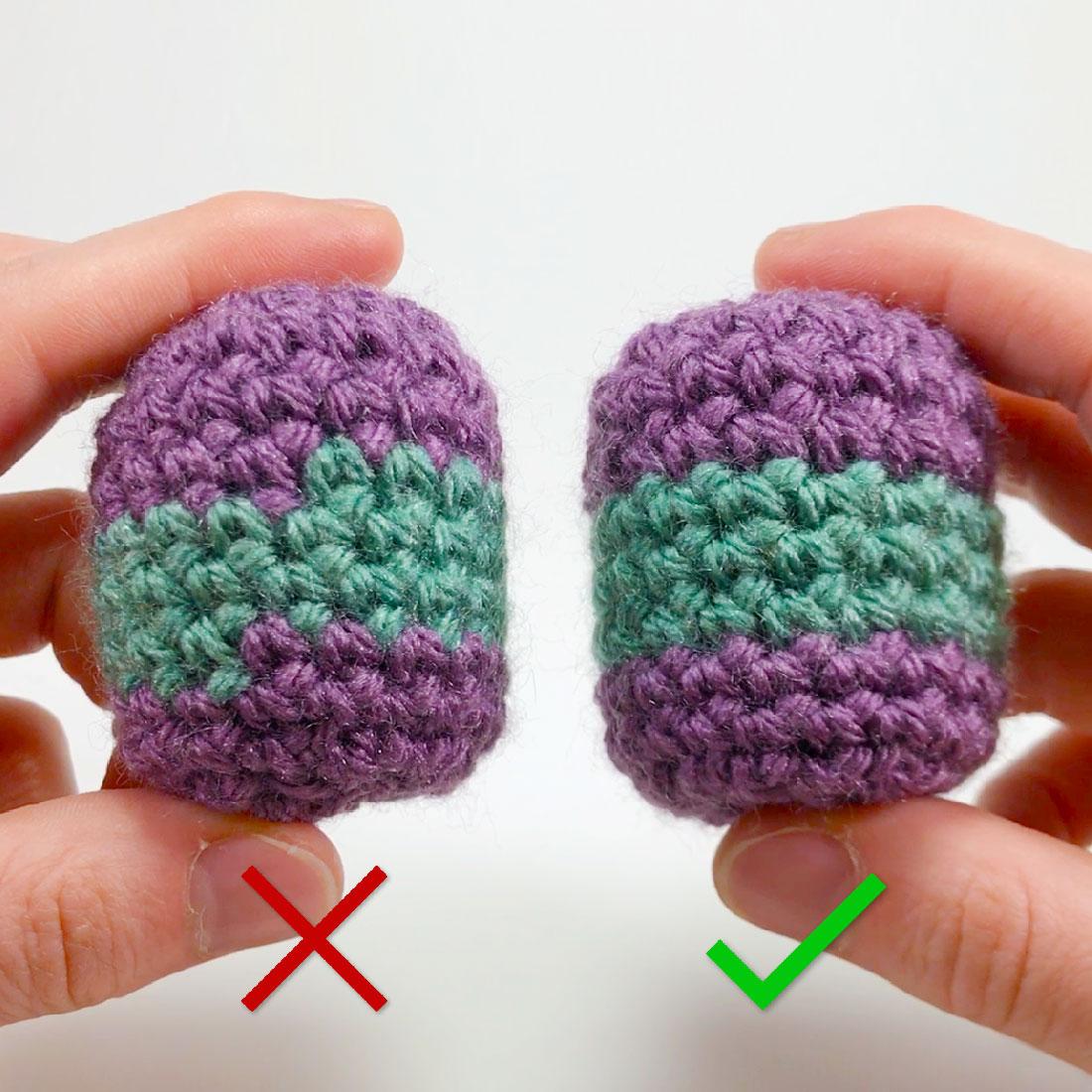 how to crochet stripes for amigurumi