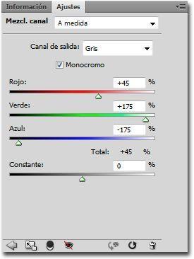 Efecto infrarrojo imagen mezclador de canales