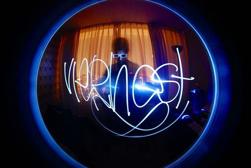 Light Painting Graffiti Signature, por Viernest