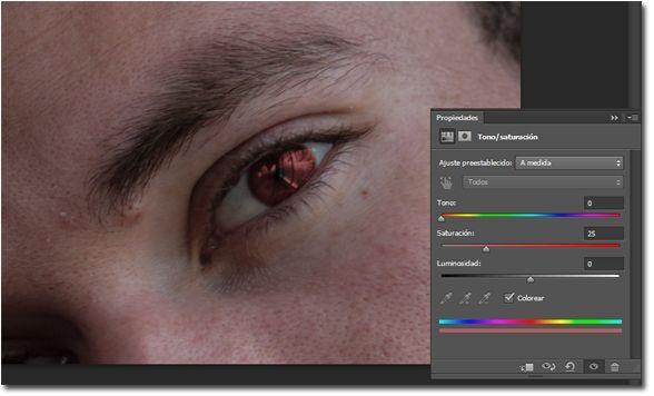 Como cambiar el color de ojos en Photoshop 06_colorear
