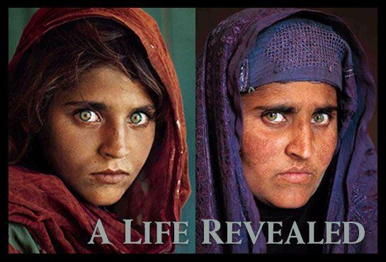 la niña afgana antes y despues