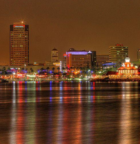 Long Beach at night, por kevin dooley