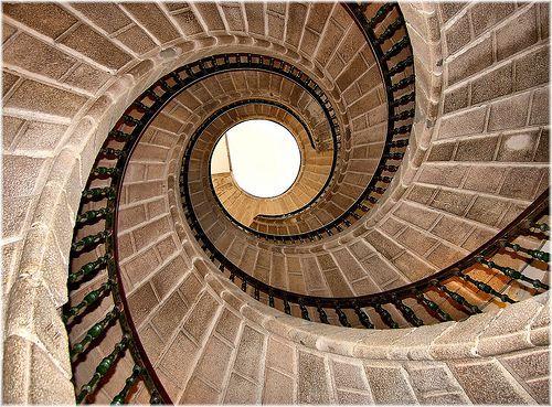 1411-Escaleira tripla de caracol (Compostela), por jl.cernadas